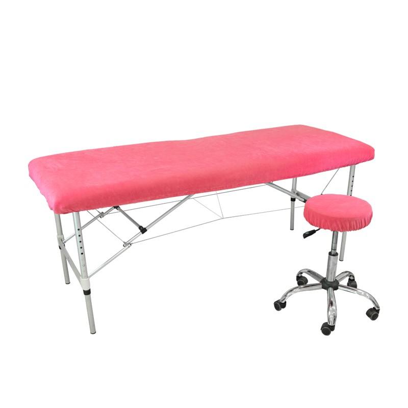 Prześcieradło na łóżko kosmetyczne (welurowe)- różowe