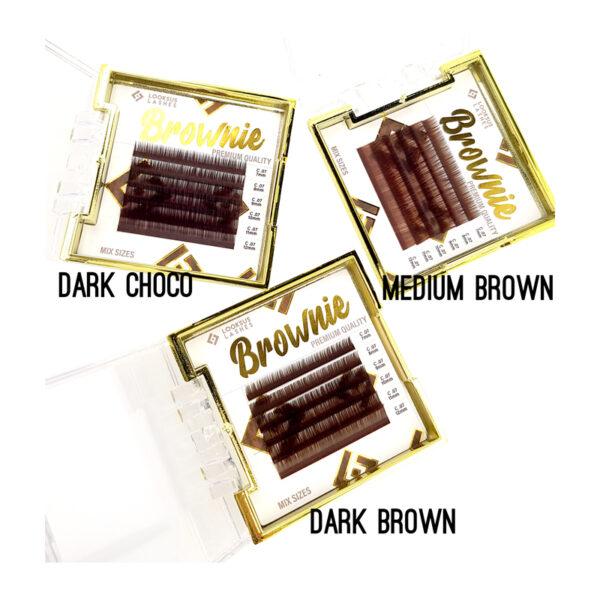 Rzęsy Brownie 0,07 mix